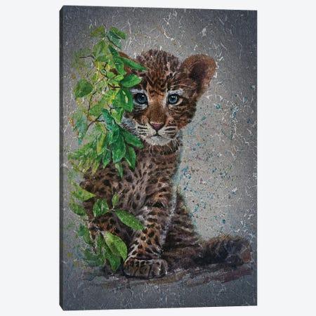 Little Leopard II Canvas Print #KNK37} by Konstantin Kalinin Canvas Wall Art