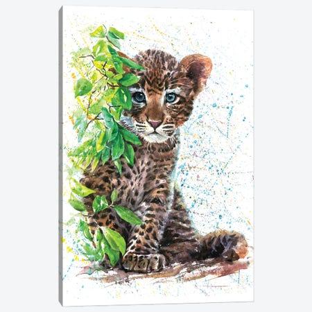 Little Leopard Canvas Print #KNK38} by Konstantin Kalinin Canvas Art Print