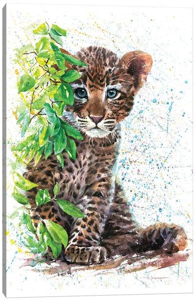 Little Leopard Canvas Art Print
