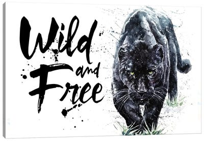 Panther Wild And Free Canvas Art Print