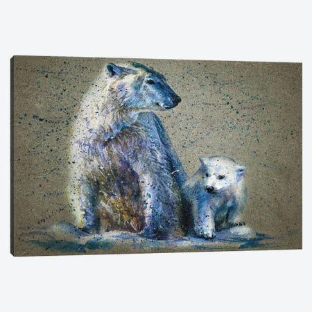 Polar Bear Canvas Print #KNK53} by Konstantin Kalinin Canvas Art Print