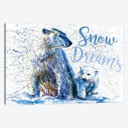 Snow Dreams Polar Bear Canvas Print #KNK57} by Konstantin Kalinin Canvas Artwork