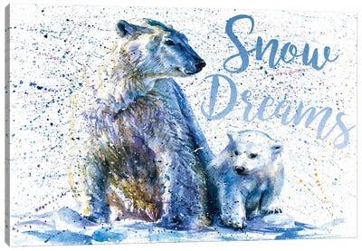Snow Dreams Polar Bear Canvas Art Print
