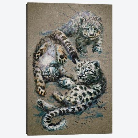 Snow Leopards Kids Canvas Print #KNK61} by Konstantin Kalinin Canvas Art