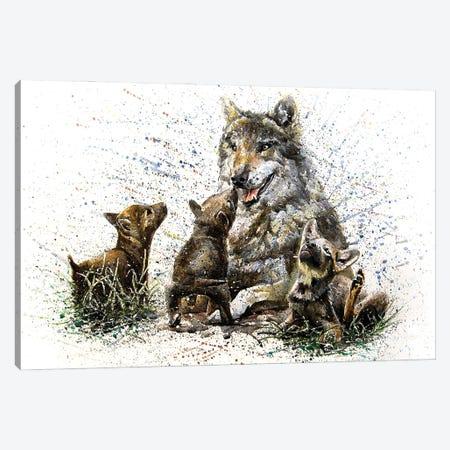 Wolf Family II Canvas Print #KNK71} by Konstantin Kalinin Canvas Art Print