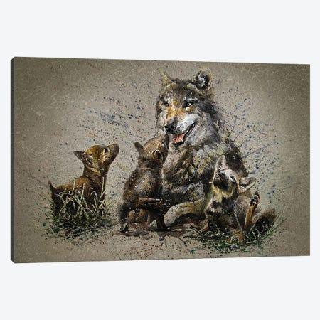 Wolf Family Canvas Print #KNK72} by Konstantin Kalinin Canvas Print
