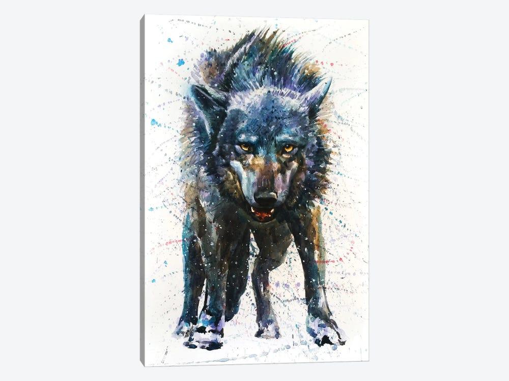 Wolf Last Fight by Konstantin Kalinin 1-piece Canvas Print