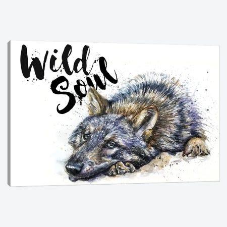Wolf Wild Soul Canvas Print #KNK78} by Konstantin Kalinin Art Print