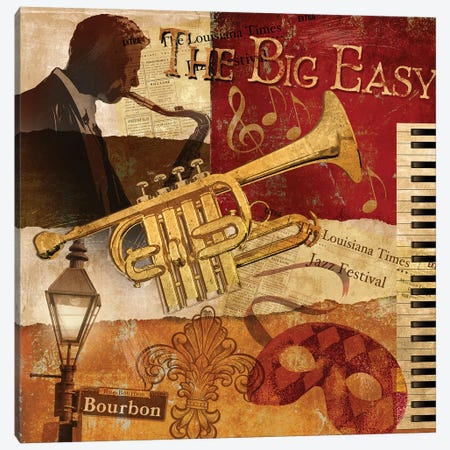 The Big Easy Canvas Print #KNU102} by Conrad Knutsen Canvas Print