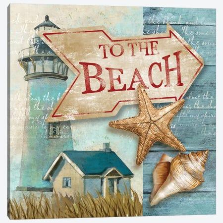 To the Beach Canvas Print #KNU104} by Conrad Knutsen Canvas Artwork