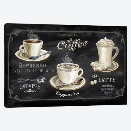 Coffee Trio Canvas Print #KNU117} by Conrad Knutsen Canvas Art Print