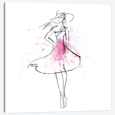 Whimsy Girl I Canvas Print #KNU118} by Conrad Knutsen Canvas Art