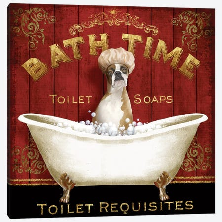 Bath Time Canvas Print #KNU11} by Conrad Knutsen Art Print