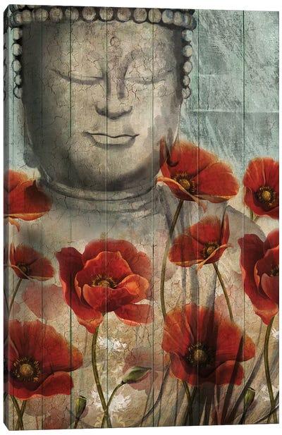 Floral Buddha Canvas Art Print