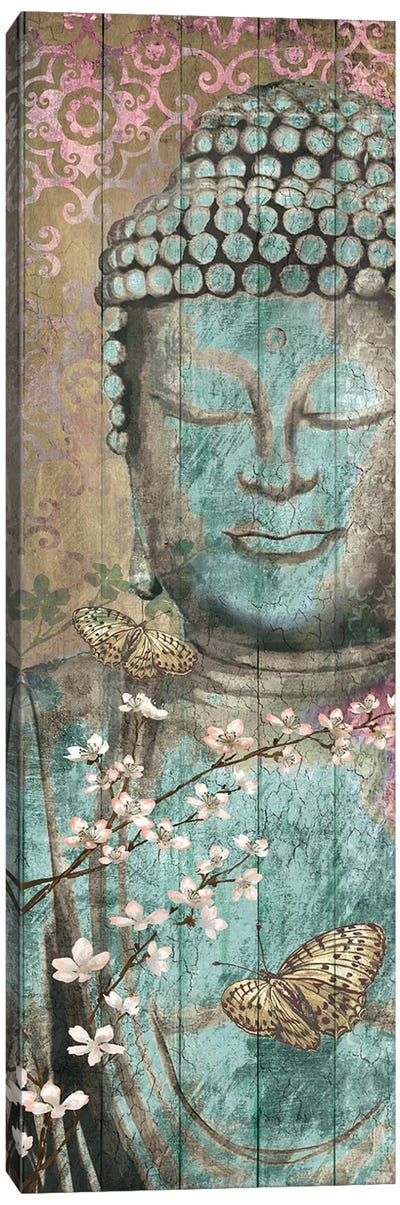 Floriental Buddha Canvas Art Print