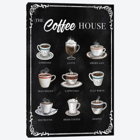 The Coffee House Canvas Print #KNU122} by Conrad Knutsen Art Print