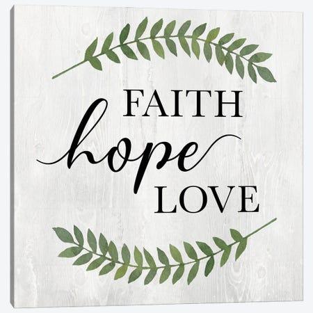 Faith Hope Love Canvas Print #KNU123} by Conrad Knutsen Art Print