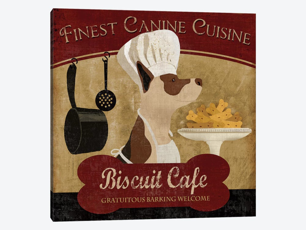 Biscuit Café by Conrad Knutsen 1-piece Canvas Art Print