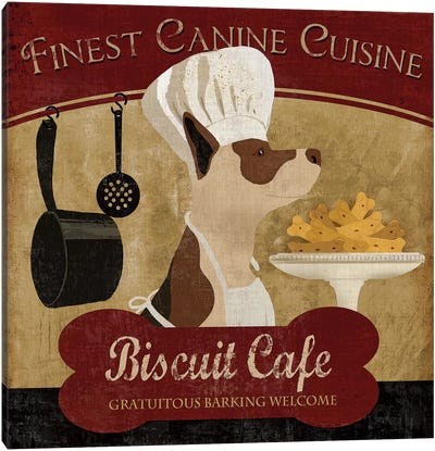 Biscuit Café Canvas Art Print