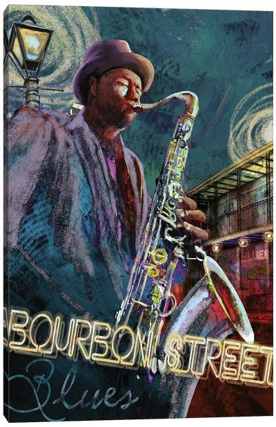 Bourbon Street Blues Canvas Art Print
