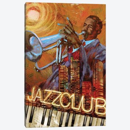 Jazz Club Canvas Print #KNU135} by Conrad Knutsen Canvas Print