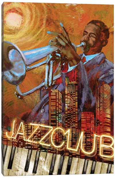 Jazz Club Canvas Art Print