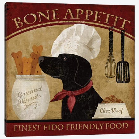 Bone Appetit Canvas Print #KNU13} by Conrad Knutsen Canvas Art Print