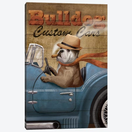 Bulldog Custom Cars Canvas Print #KNU15} by Conrad Knutsen Canvas Wall Art