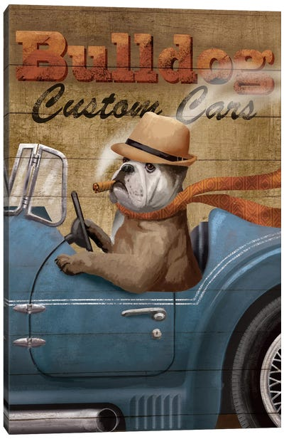 Bulldog Custom Cars Canvas Art Print