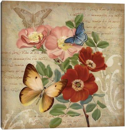 Butterfly Botanical I Canvas Print #KNU16