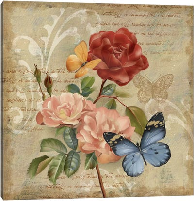 Butterfly Botanical II Canvas Art Print