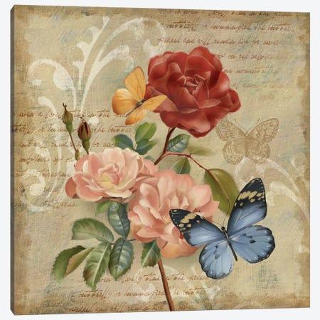 Butterfly Botanical II Canvas Print #KNU17} by Conrad Knutsen Canvas Artwork