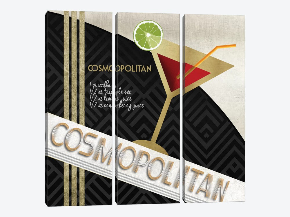 Cosmo Straight Up 3-piece Canvas Art