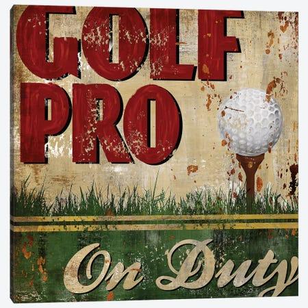 Golf Pro Canvas Print #KNU21} by Conrad Knutsen Canvas Artwork