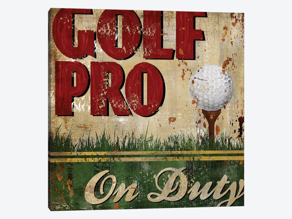 Golf Pro by Conrad Knutsen 1-piece Canvas Art Print