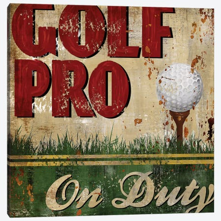 Golf Pro Canvas Print #KNU21} by Conrad Knutsen Canvas Artwork