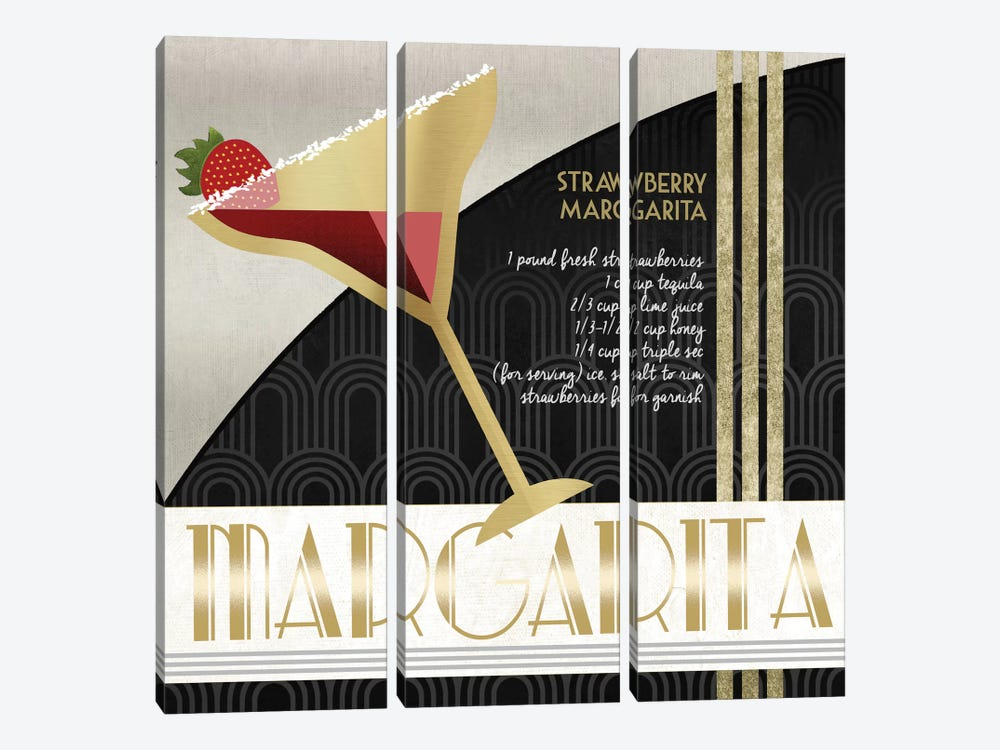 Happy Hour Margarita by Conrad Knutsen 3-piece Canvas Wall Art