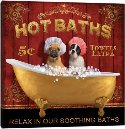 Hot Baths Canvas Art Print