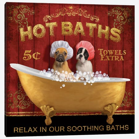 Hot Baths Canvas Print #KNU23} by Conrad Knutsen Canvas Art