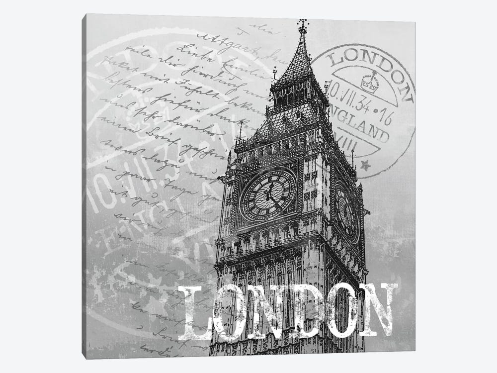 London by Conrad Knutsen 1-piece Canvas Wall Art