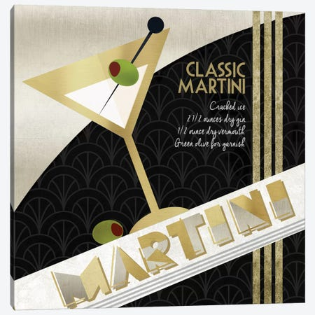 Martini Cocktail Canvas Print #KNU26} by Conrad Knutsen Canvas Print