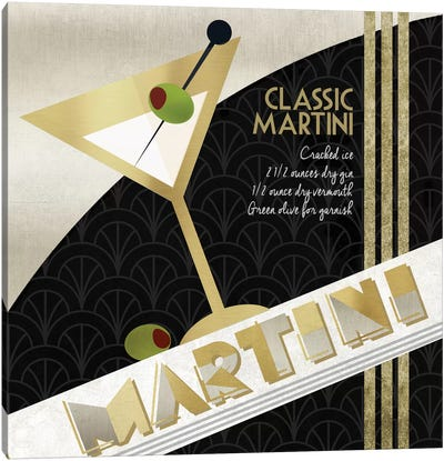 Martini Cocktail Canvas Art Print