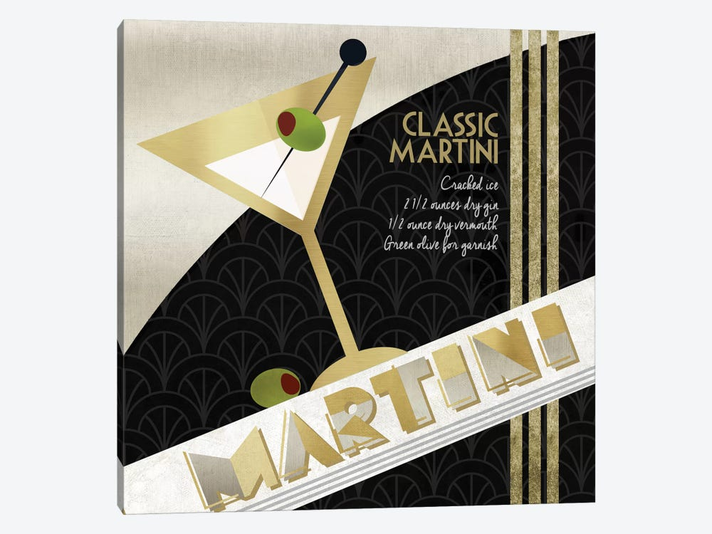 Martini Cocktail by Conrad Knutsen 1-piece Canvas Wall Art
