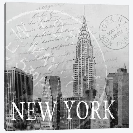 New York Canvas Print #KNU27} by Conrad Knutsen Canvas Print