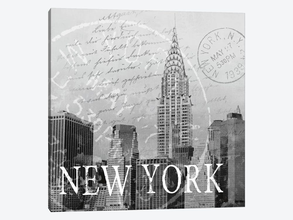 New York 1-piece Canvas Art Print