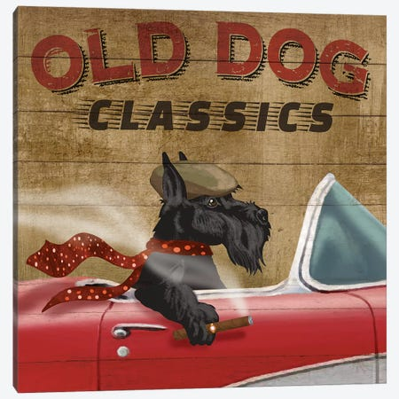 Old Dog Classics Canvas Print #KNU28} by Conrad Knutsen Canvas Artwork