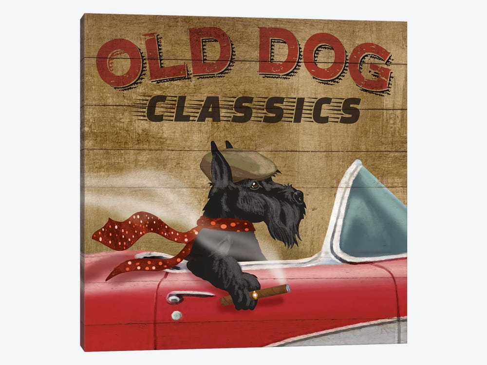 Old Dog Classics by Conrad Knutsen 1-piece Canvas Wall Art
