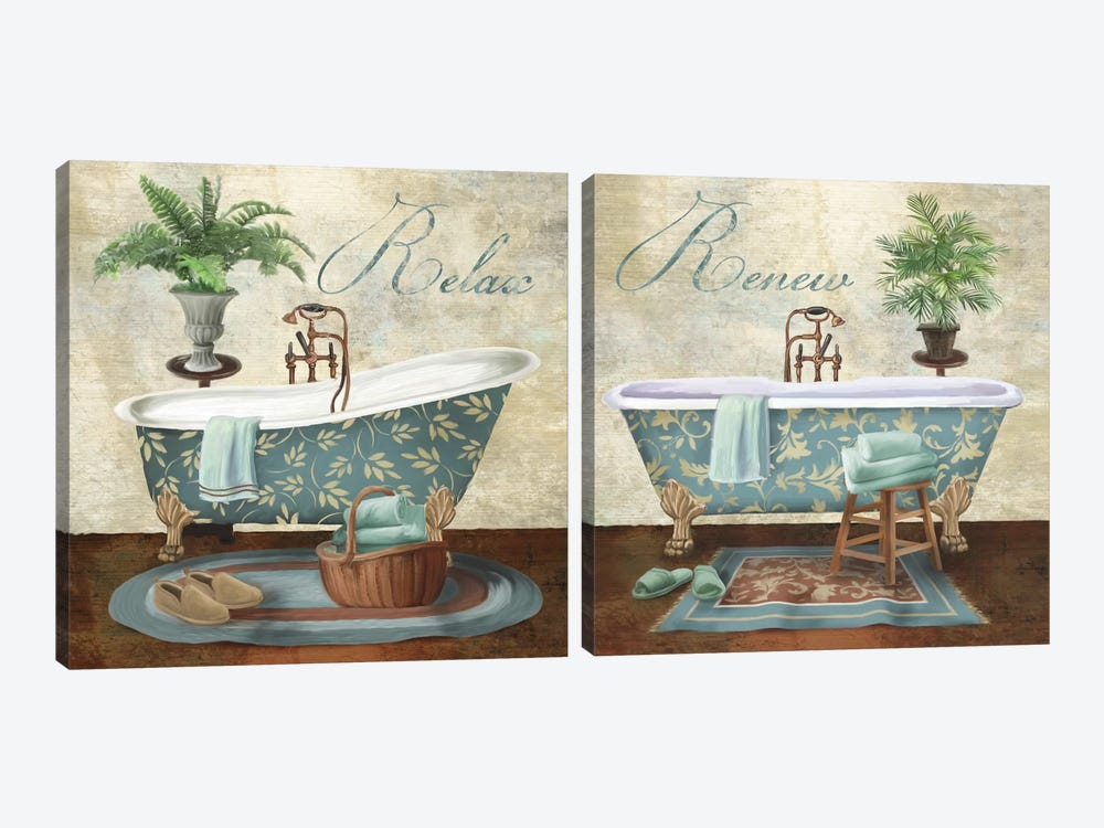 Bath Diptych 2-piece Canvas Art