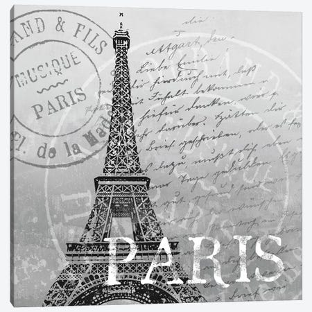 Paris Canvas Print #KNU30} by Conrad Knutsen Art Print