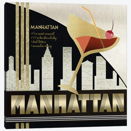 The Original Manhattan Canvas Print #KNU32} by Conrad Knutsen Canvas Print